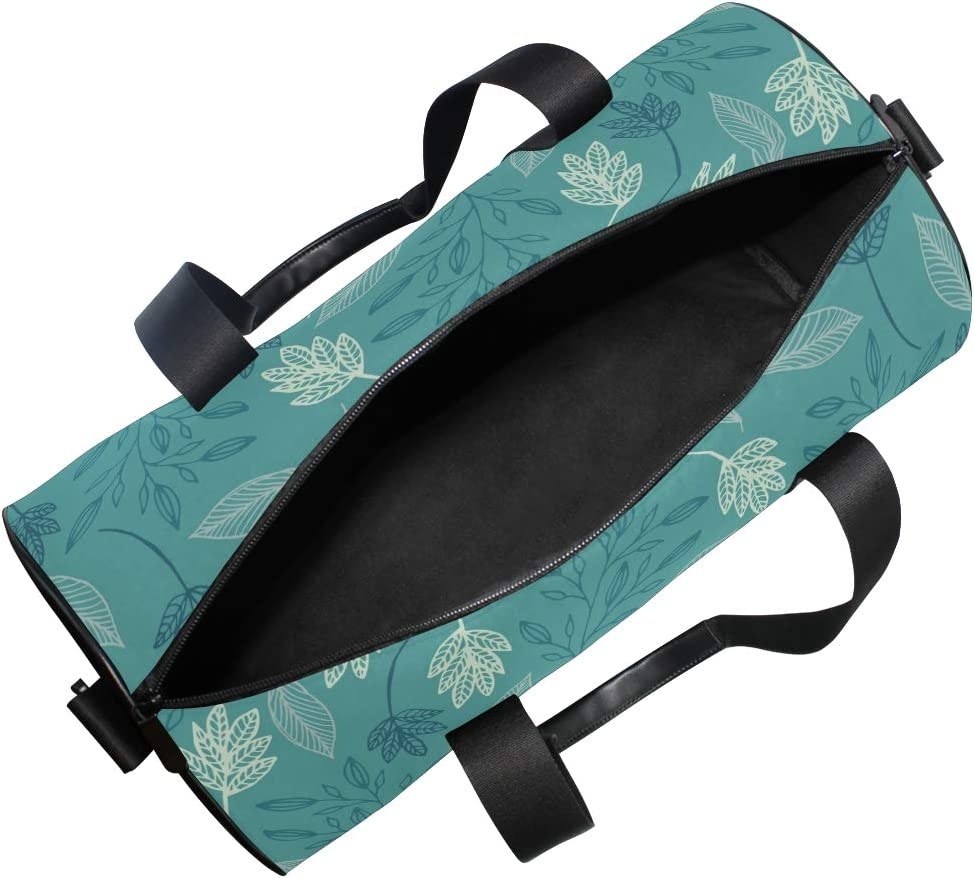 MALPLENA Green Leaves Drum gym duffel bag women Travel Bag