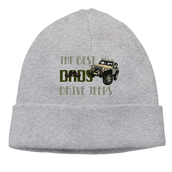 dc9387bdce8 Beanie Hat The Best Dads Drive Jeeps Snapback Knit Cap For Male at Amazon  Men s Clothing store
