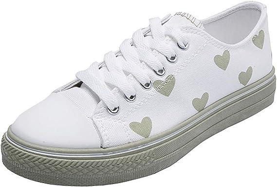 Zapatos De Lona Para Mujer Zapatillas De Deporte Planas Alpargatas Con Cordones Salvajes Zapatos Casuales Impresión De Patrones Sandalias Deportivas Zapatillas Para Mujer Wyxhkj: Amazon.es: Ropa y accesorios