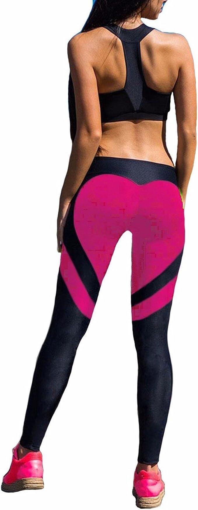 Amazon.com: Fittoo - Pantalones de yoga con forma de corazón ...