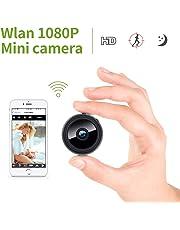 Mini Kamera, KinCam 1080P Full HD Wireless Überwachungskamera Nanny Cam WiFi IP Kamera mit Bewegungmelder für iPhone/Android/iPad