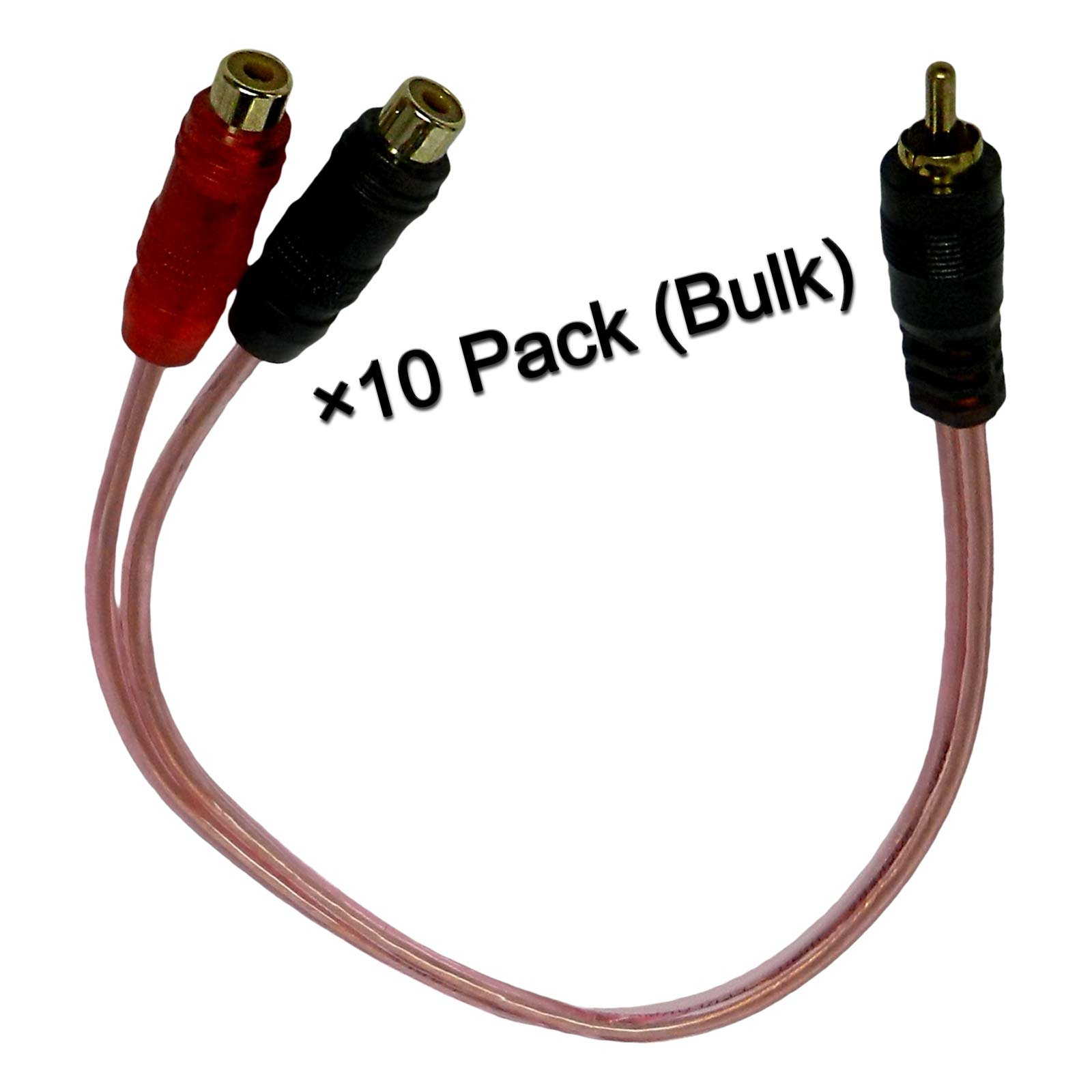 Bass Rockers Bulk 10 Pack RCA Y-Splitter Cables (1 Male to 2 Female) - BRC2F1M by Bass Rockers (Image #2)