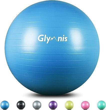 Bigsweety Gymnastikball 65 cm Dick Ergonomischer Bequemer Yoga Ball f/ür Frauen M/änner Unisex Rutschfester Yoga Ball