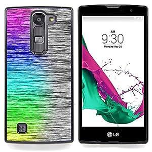 cool rainbow art brushed pattern Caja protectora de pl??stico duro Dise?¡Àado King Case For LG Volt 2 / LG G4 Mini (G4c)