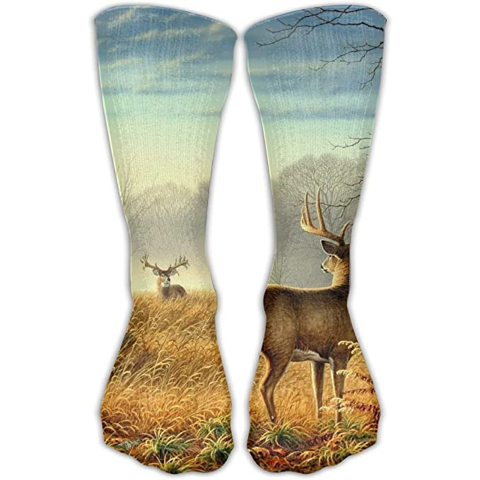 4c9171bafb2af Amazon.com: Cool Old Tractor And Cute Deer Unisex 30CM Leisure Comfortable  Sports Socks Perfect Gifts For Women And Man: Clothing