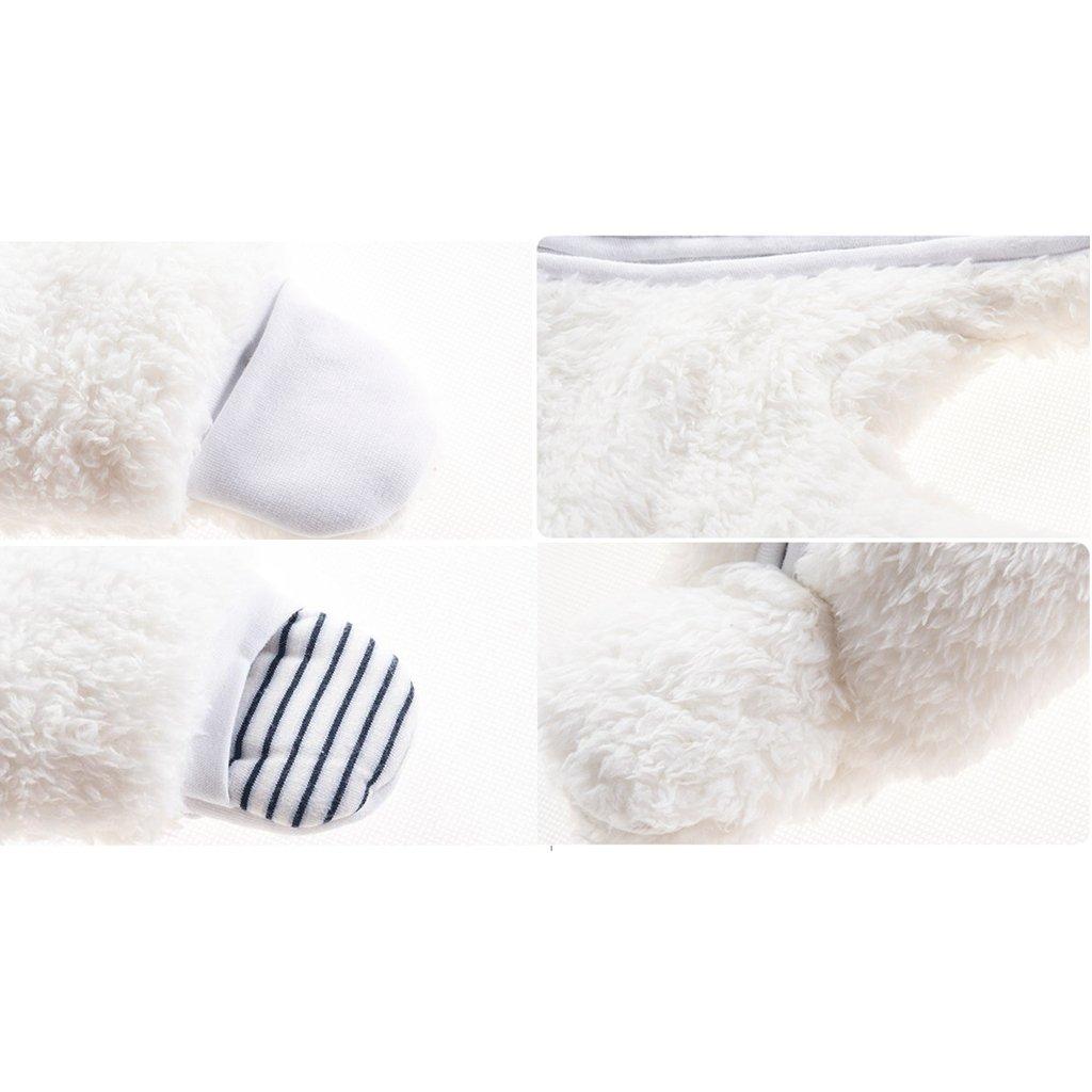 Blanco 0-3 Meses Vine Traje de Nieve Beb/é Fleece Ropa de Invierno Footed Peleles Ni/ños Ni/ñas C/álido Mameluco con Capucha