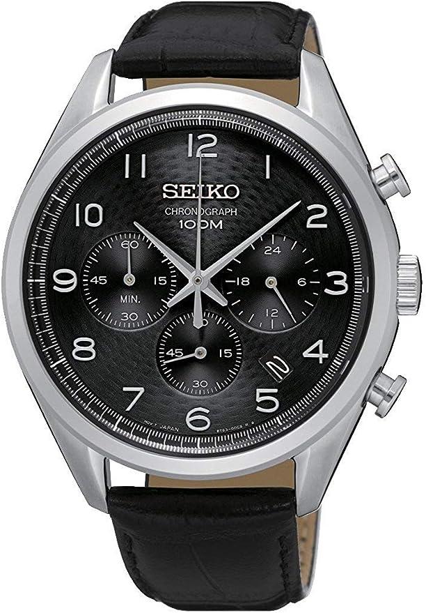 セイコー SEIKO 逆輸入 クロノグラフ メンズ 腕時計 SSB231P1 レザーベルト 逆輸入品 [並行輸入品]