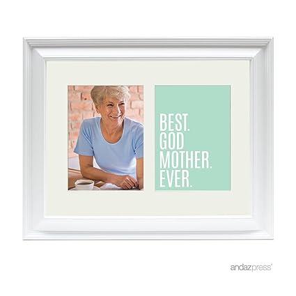 Amazon.com - Andaz Press Double White 5x7-inch Photo Frame, Best ...