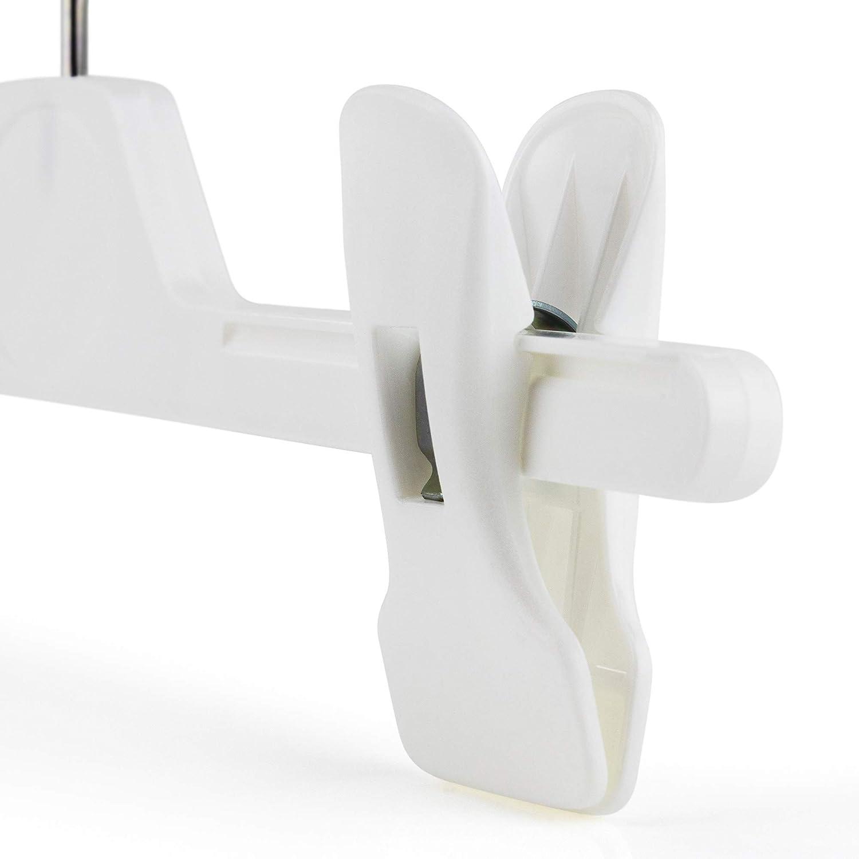 28 cm Hangerworld 10 Kunststoff Clip Kleiderb/ügel f/ür Kinder in BLAU PINK /& WEISS ca