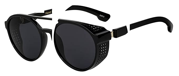 a972ab17ae Image Unavailable. Image not available for. Color  NEW Steampunk Vintage Mens  Sunglasses Fashion Luxury Brand Designer Men Women Sun Glasses ...