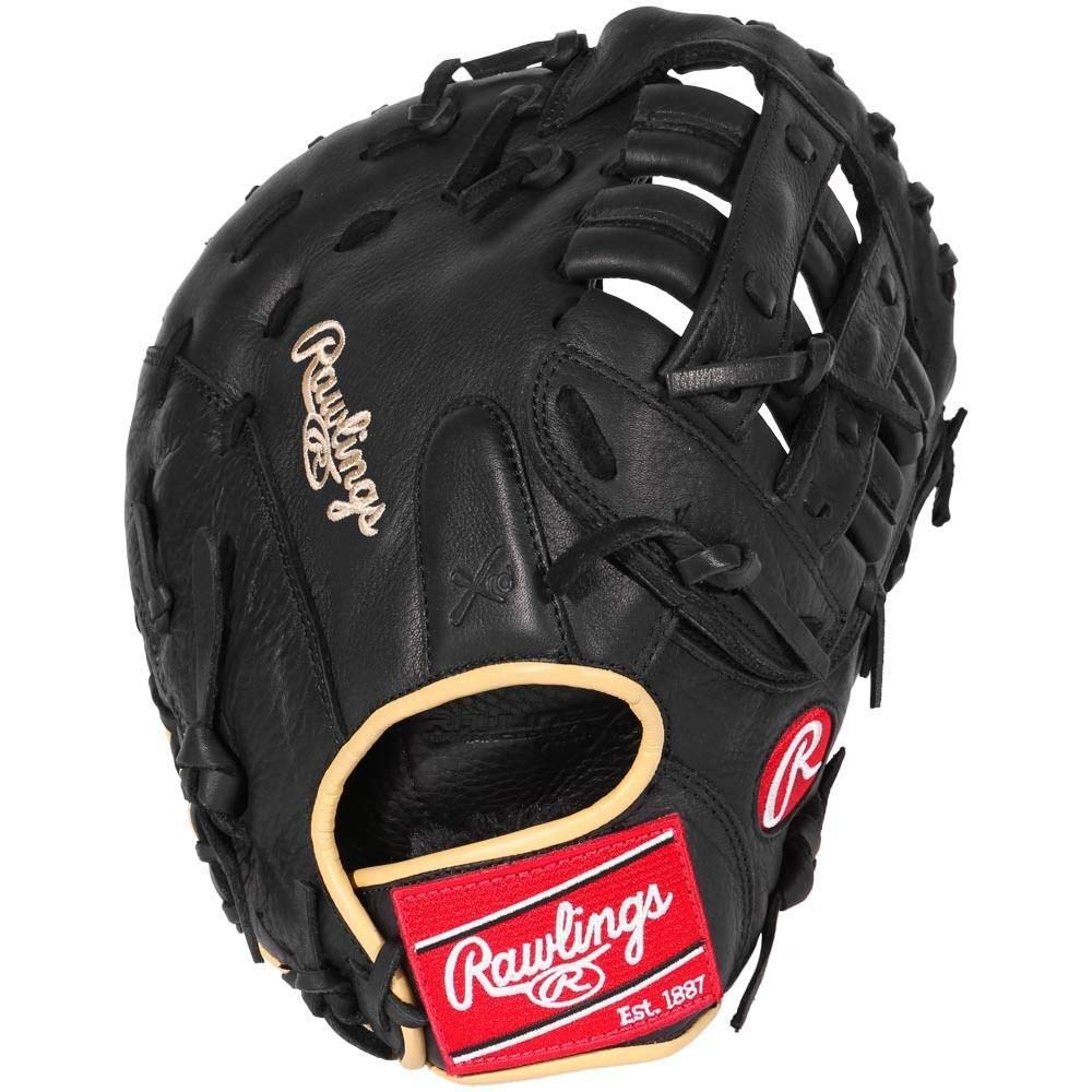Rawlings  Gamer 1st Base Mitts with Taper Modified Pro H Web, Right Hand, Black, 12'' by Rawlings