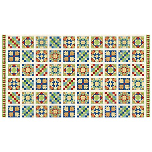 Northcott A Stitch In Time Quilt 24in Panel Blocks Off White (Panel Quilt Block)