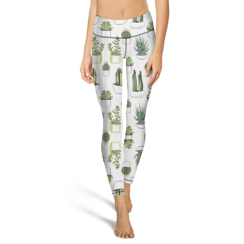 1d9708e153 Amazon.com: Ouxioaz High Waist Yoga Pants Beautiful Cacti Cactus Workout  Leggings for Woman: Clothing