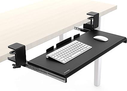 Bandeja de teclado de aleación, soporte ergonómico para teclado y ...
