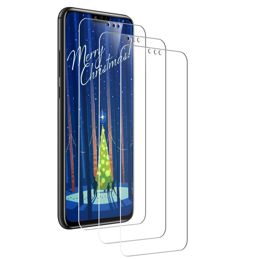 Yokimico [Lot de 3 Verre Trempé pour Huawei Honor 8X, Protection écrans Film Protection en Verre Trempé Ultra Résistant (HD Ultra Transparent) pour Huawei Honor 8X