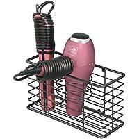 MDesign Farmhouse - Cesta de metal para el baño con soporte de pared, para el
