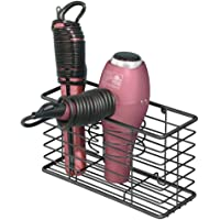 mDesign Soporte para secador de pelo en metal