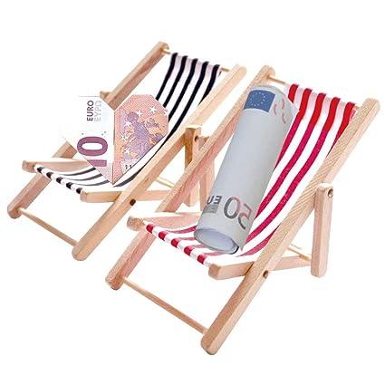 Mini Liegestuhl Deko Basteln.Bullout Miniatur Liegestuhl Deko 2 Stück 1 12 Holz Miniliegestuhl Strandkorb Kleiner Strandstuhl Für Diy Fee Puppenhaus Garten