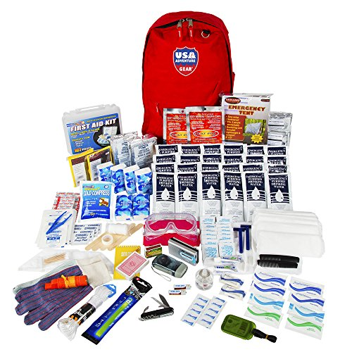 USA Adventure Gear ReadyGear 2 Person Ultra Emergency Kit - First Aid, Water, Tent, Sleeping Bag, Hygiene Kit More Survival Tools Hurricane, Earthquake, Winter other Disaster Relief