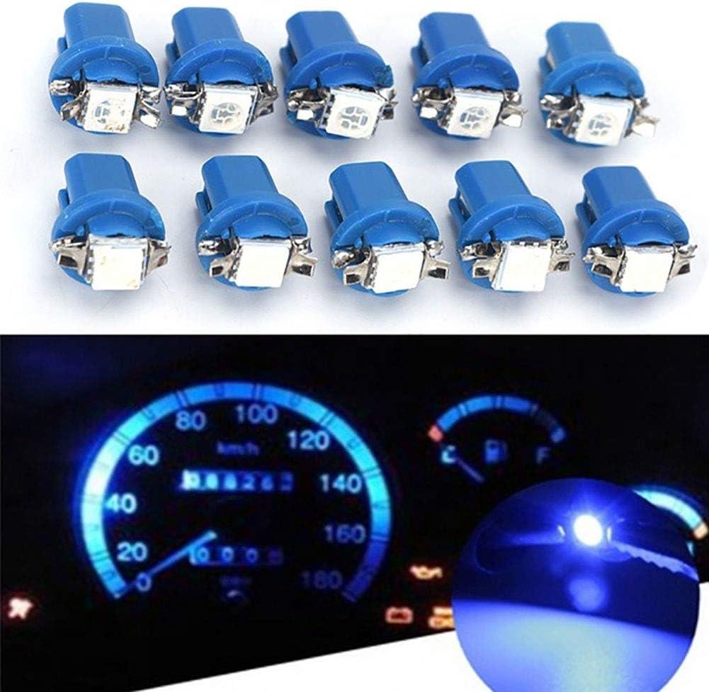 EMHU 10pcs B8.3D-5050-1 LED Voiture Ampoules LED Instrument lumi/ères Tableau de Bord int/érieur Plaque de num/éro de lumi/ère lat/érale Ampoules de d/émarrage