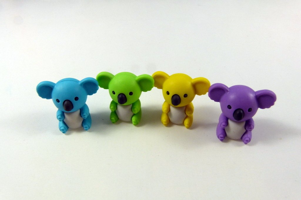 Iwako 4 colours Koala Bear Japanese Erasers from Japan by Iwako (Image #1)
