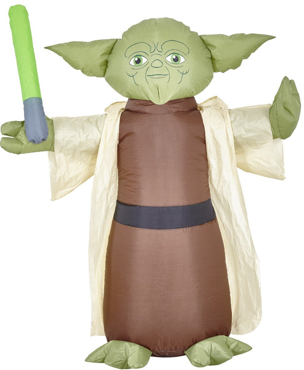 Morbid Enterprises Star Wars Yoda Lawn Inflatable, Green/Brown/Tan/Black, One Size