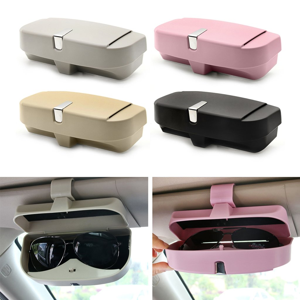 Wodwad Auto Car Glasses Clip Ticket Card Clamp ABS Visor Sunglasses Holder Accessories