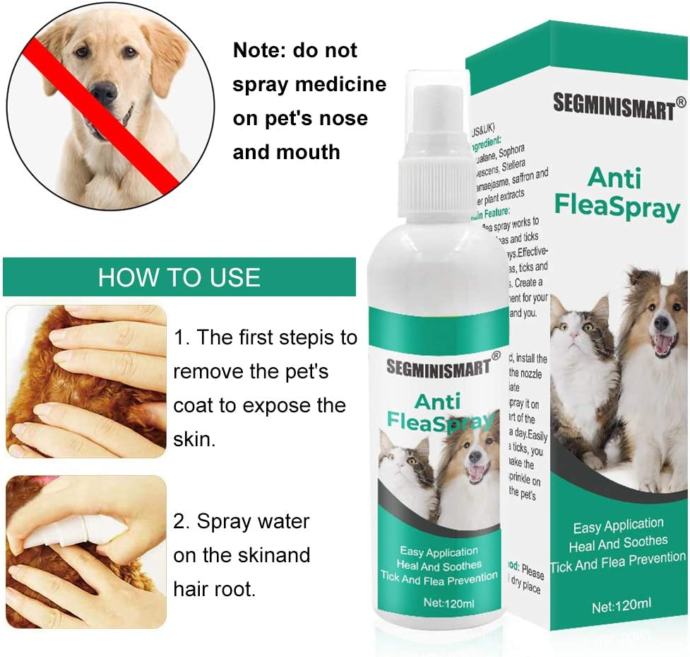SEGMINISMART Pulgas Spray,Anti Pulgas,Flea Spray,Spray ...