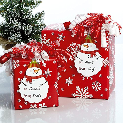 - Diecut Snowman Christmas Gift Tags - Set of 12 Christmas Package Tags