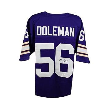 ced62ca8a Chris Doleman HOF Autographed Minnesota Vikings Custom Football Jersey JSA  (B)