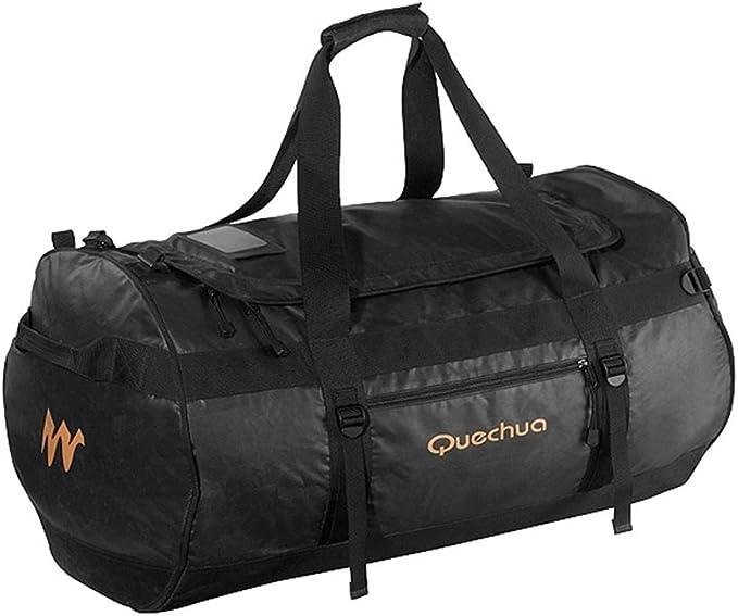 DECATHLON QUECHUA 100L TREKKING equipo bolso negro: Amazon.es ...