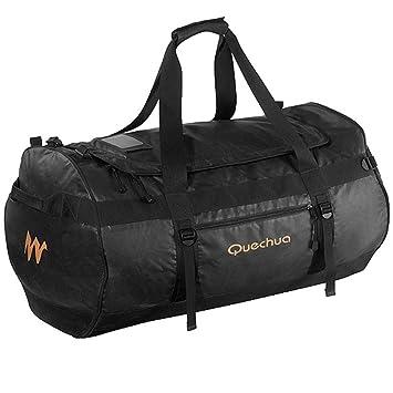 DECATHLON QUECHUA 100L TREKKING equipo bolso negro: Amazon.es: Deportes y aire libre