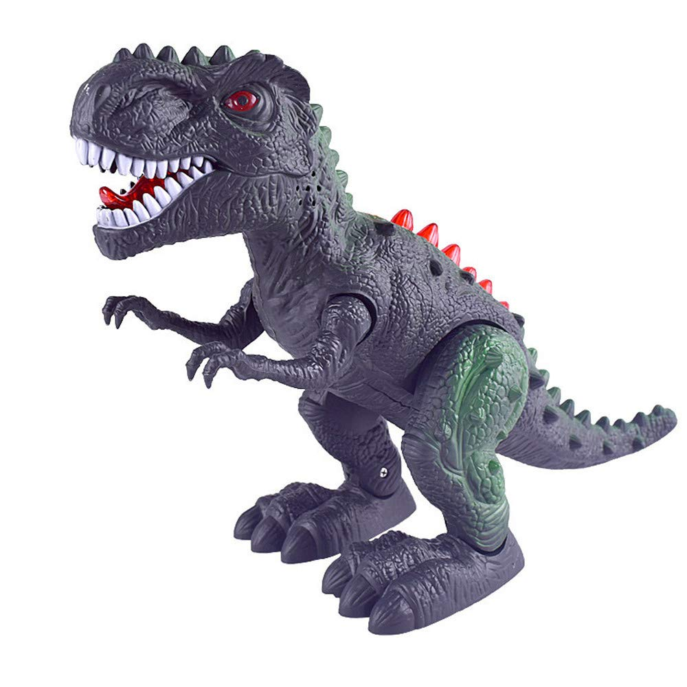 MA87 Dinosaur Electronic Walking Robot Roaring Interactive Dino Toy Lights & Sounds Real Movement