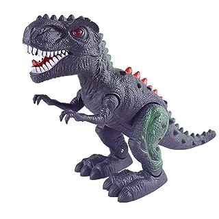 IZHH Toys, Dinosauro Giocattolo elettronico per Bambini, per Camminare e Camminare, Cotone Lino, Nero, Taglia Unica