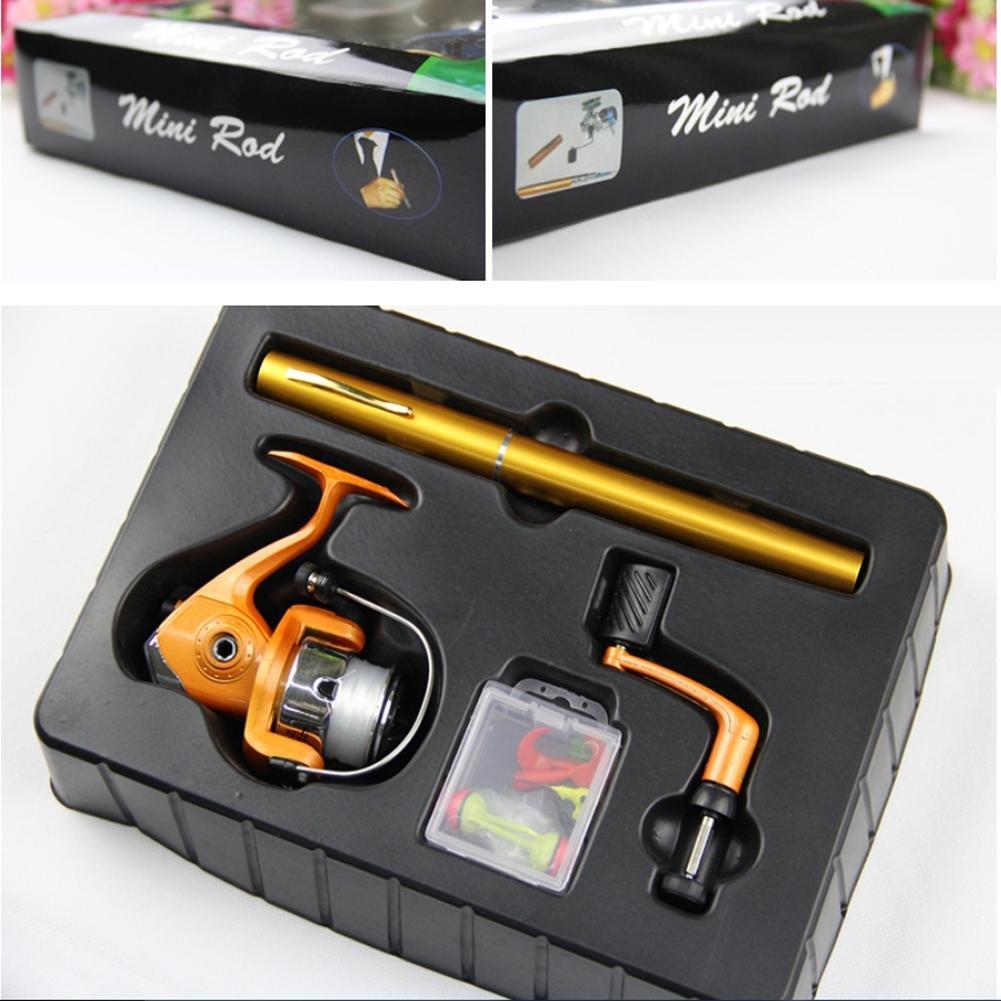 QQA Pocket Spinning Pen Fishing Tackle Rod + Spinning Reel Tackle Reel Set 1M' green B07F6B4K2B, Jeans&Casual Noah:5c1a949d --- ferraridentalclinic.com.lb