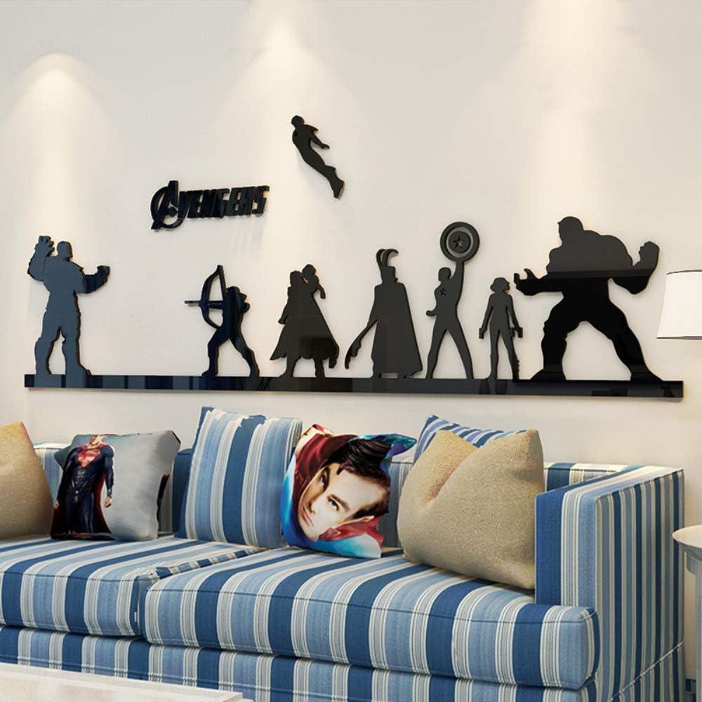 Super Hero Wall Sticker Series - Hawkeye,Captain America, Hulk, Loki, Thor, Black Widow, Ironman, Thanos Vinyl Decorative Stickers (S)