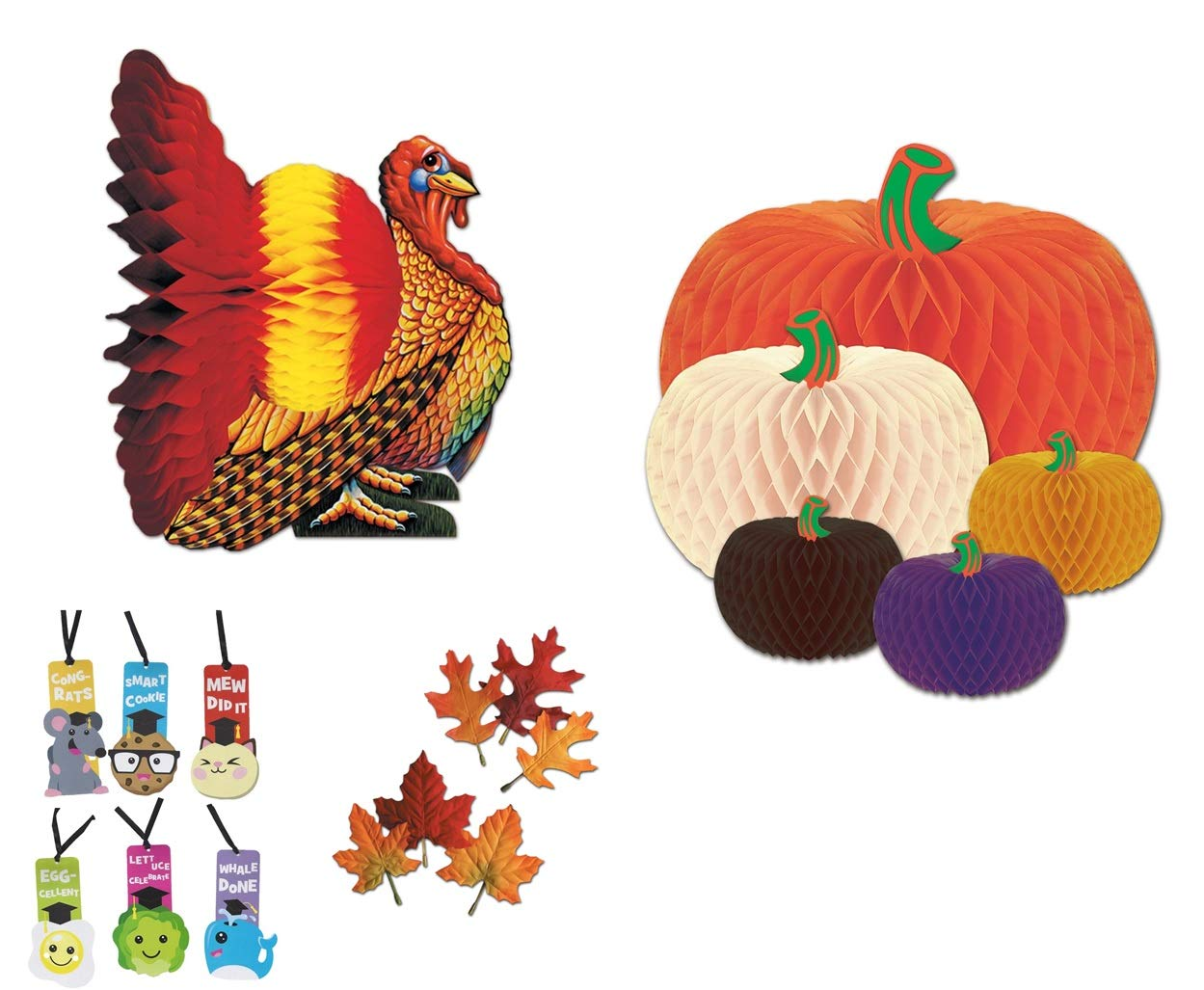 Party Thanksgiving Fall Autumn Table Decorating Kit by Beistle