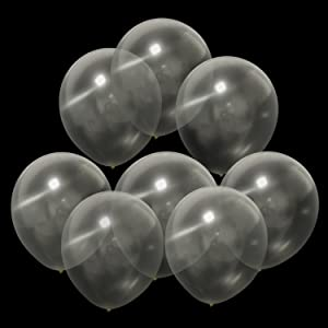 """100pcs Clear Balloons - 12"""" Clear Latex Balloons Round - Helium Transparent Balloons for Wedding Birthday Baby Shower Party Venlentine's Day Festival Under the Sea Themed Party Decorations"""