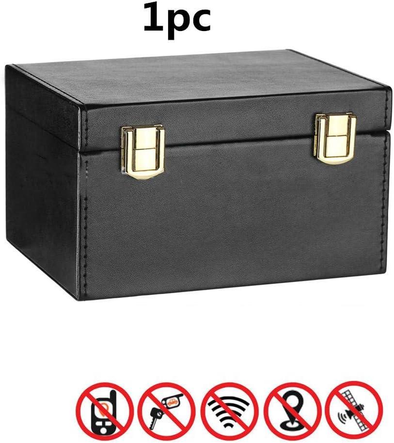 Cage de bo/îte Faraday am/élior/ée pour porte-cl/és bo/îtier de blocage de signal RFID et dappel anti-vol bo/îte de blocage de signal pour cl/és de voiture Carte de t/él/éphone FOB bloqueur de bo/&icir