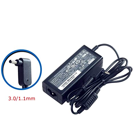 SANISI ACER 19V 2 37A 45W 3 0/1 1mm Small Pin AC Adapter for ACER Aspire  One Cloudbook AO1-131 AO1-131 AO1-431 Chromebook 11 C730 Chromebook R 11