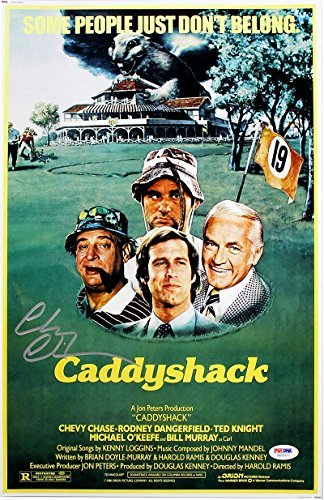 Chevy Chase Signed Autographed Caddyshack 11x17 Movie Poster PSA/DNA ()