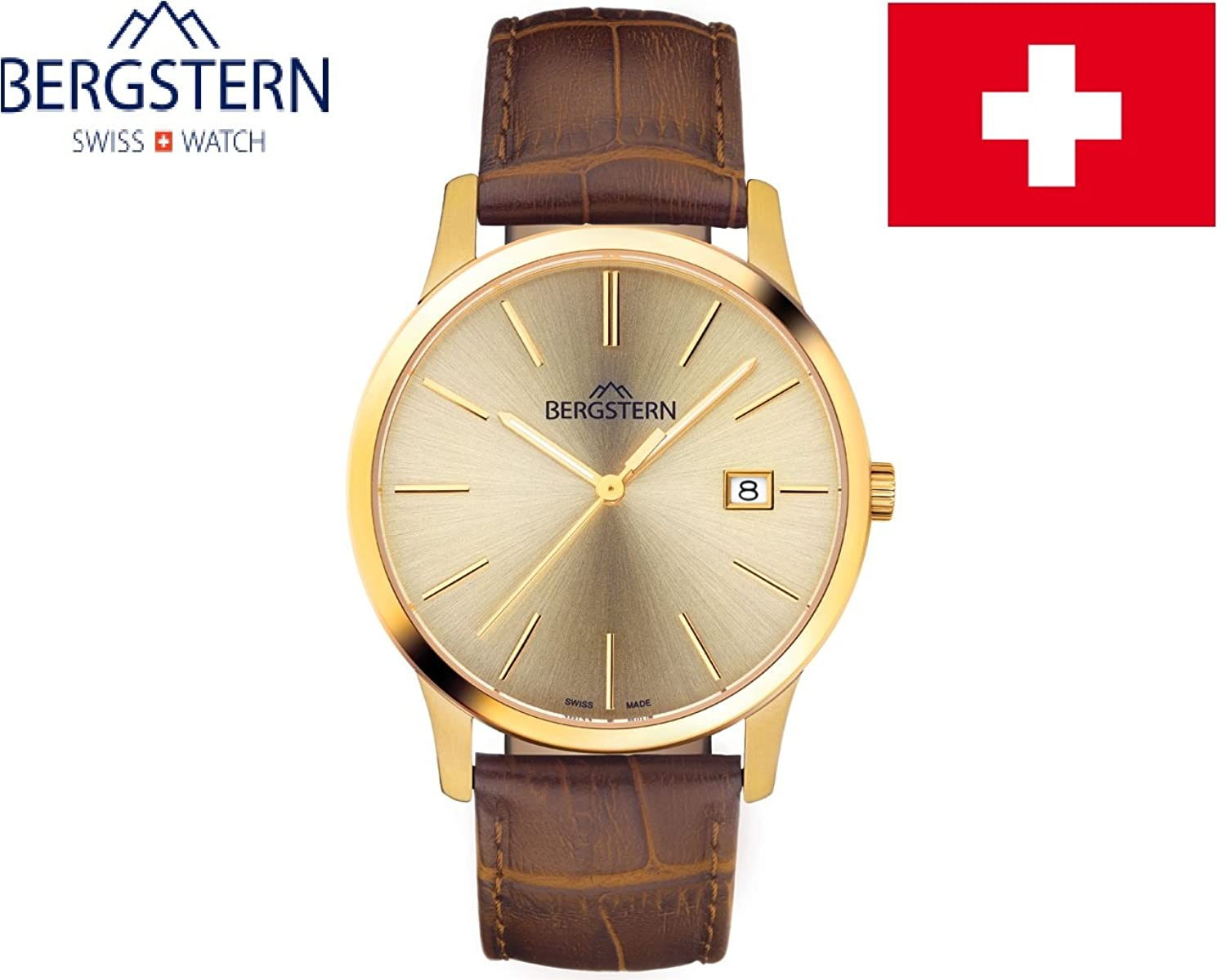 ARMBANDUHR MEN'S COLLECTION HARMONY BERGSTERN B008G053 .made SWISS whatch hoher QualitÄt MADE IN SVIZZERA.Cinturino