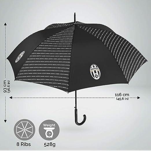 Diam/ètre 120 cm Parapluie Original avec Logo Officiel Bar/ça Ouverture Automatique Bleu Perletti Parapluie Canne FC Barcelona