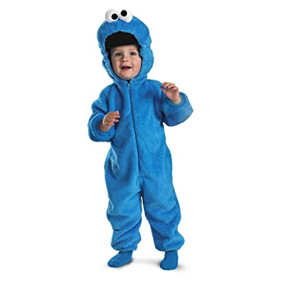 Cookie Monster Deluxe Two-Sided Plush Jumpsuit Costume: Toys & Games