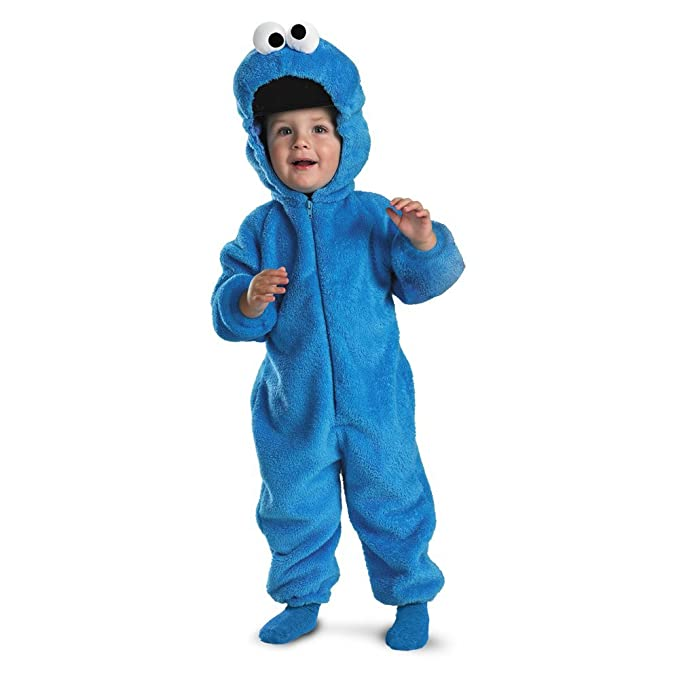 Cookie Monster Deluxe Two,Sided Plush Jumpsuit Costume