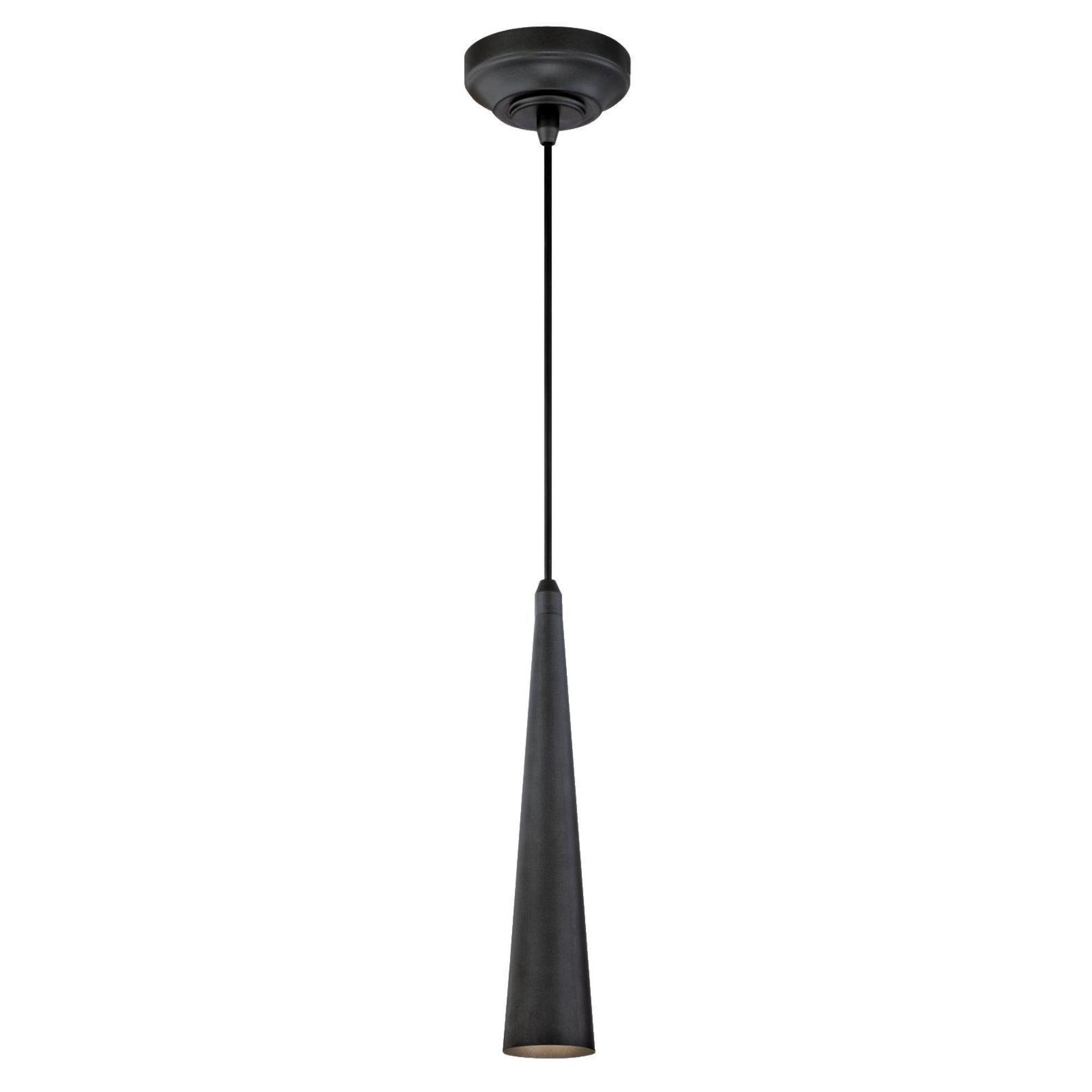 Westinghouse 6329600 One-Light LED Indoor Mini-Pendant, Matte Brushed Gun Finish with Metal Shade