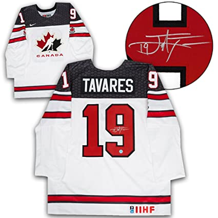 John Tavares Team Canada Autographed White Nike World Junior Hockey