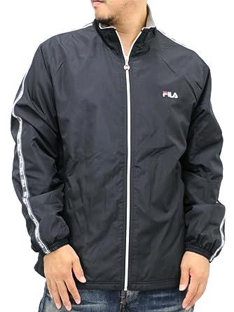 dbd75b1a853 Amazon | [フィラ] 大きいサイズ メンズ ウインドブレーカー ナイロンジャケット スポーツ トレーニング ランニング ブランド ブラック  LL | コート・ジャケット 通販