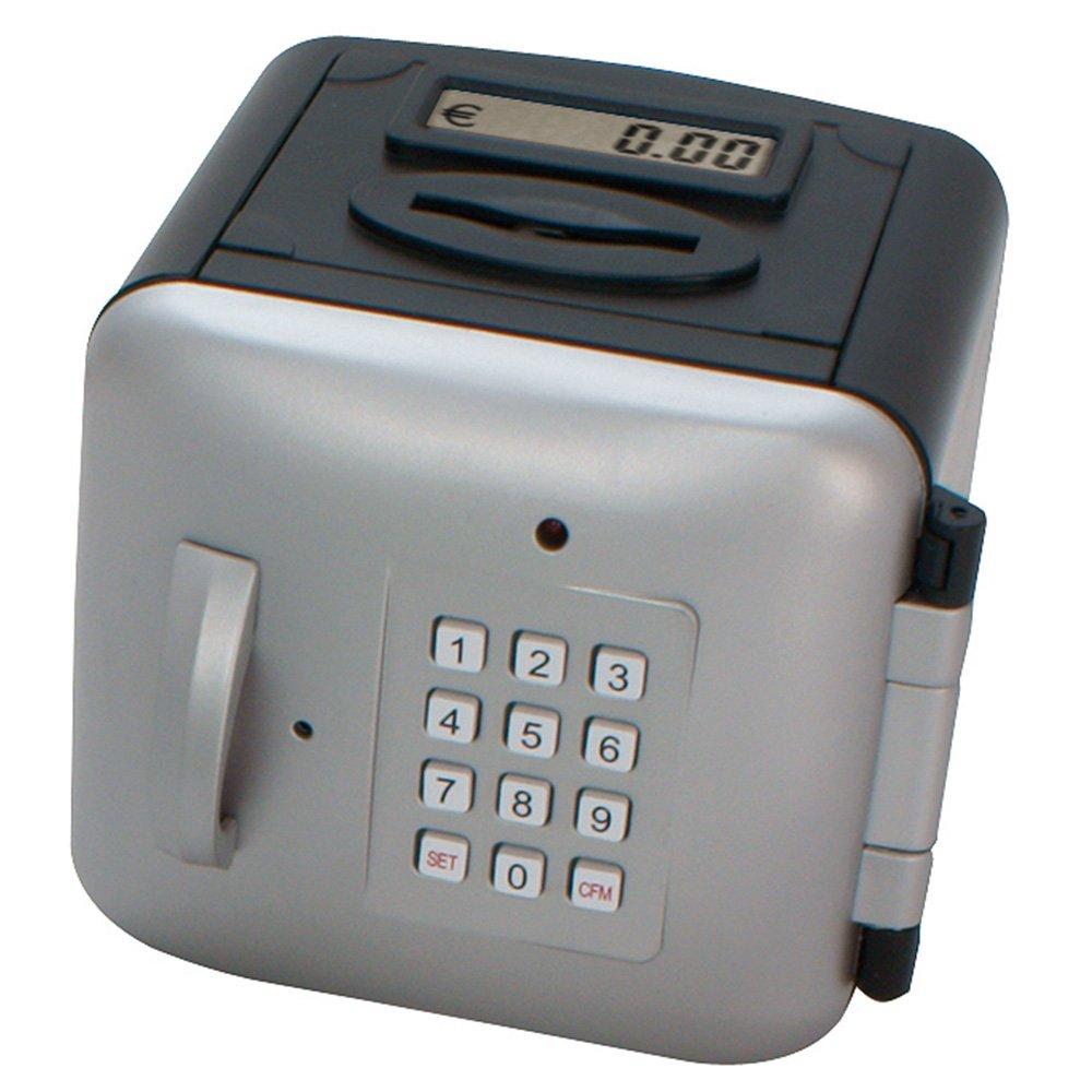 Makro Paper 630478 - Caja fuerte, color plata y negro: Amazon.es: Oficina y papelería
