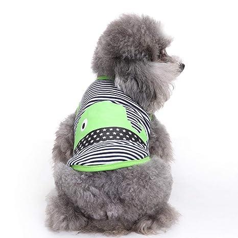 Conquro Chaleco para Perros de Primavera y Verano Ropa para Mascotas Chaleco Ropa cómoda para Mascotas